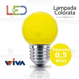 Lampadina a led colorata 0,5 watt E27 Gialla