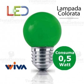 Lampadina a led colorata 0,5 watt E27 Verde
