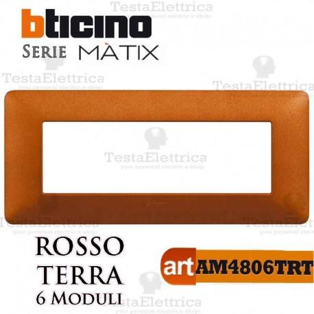 Placca 6 moduli Titanium Bticino Matix