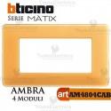 Placca  4 moduli ambra Bticino Matix