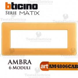 Placca 6 moduli ambra  Bticino Matix
