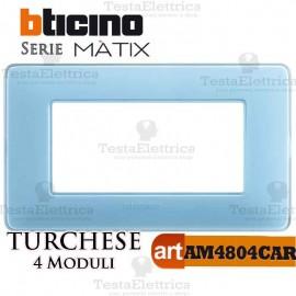 Placca  4 moduli turchese Bticino Matix