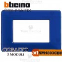 Placca 3 moduli cobalto Bticino Matix
