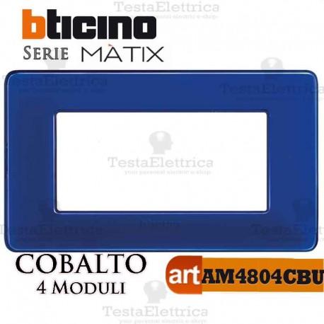 Placca  4 moduli cobalto Bticino Matix