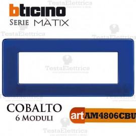Placca 6 moduli cobalto Bticino Matix