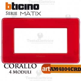 Placca  4 moduli corallo Bticino Matix