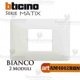 Placca 2 moduli Bianca Bticino Matix