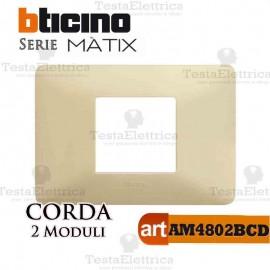 Placca 2 moduli Corda Bticino Matix