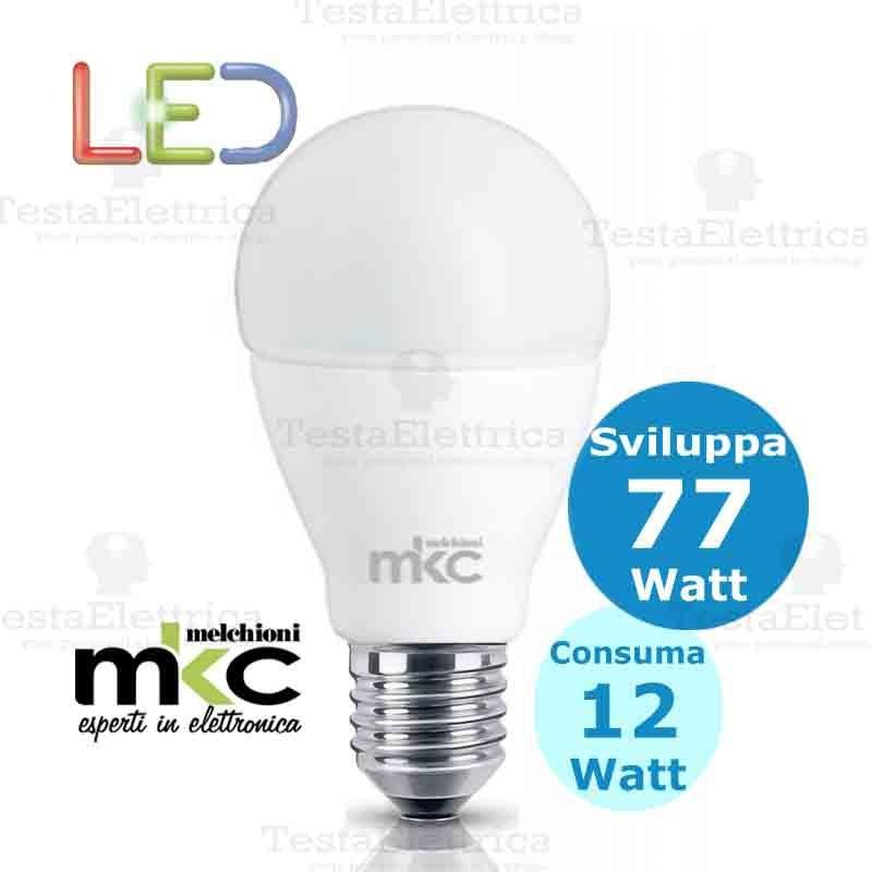 Goccia led e27 12 watt melchioni for Lampade a led watt
