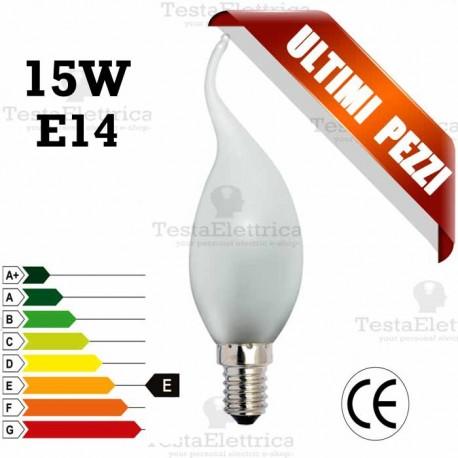 Lampada a incandescenza colpo di vento 15W E14