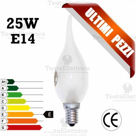 Lampada a incandescenza colpo di vento 25W E14