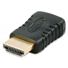 Adattatore miniHDMI tipo C a HDMI tipo A Lindy