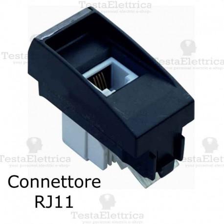 Schema Collegamento Presa Telefonica Rj11 : Presa telefonica rj11 compatibile serie living light bticino