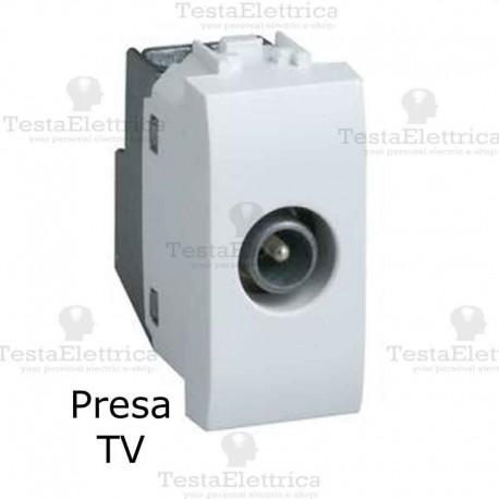 Presa TV bianca compatibile con serie Bticino LivingLight