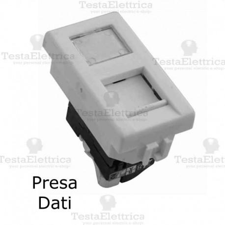 Schema Cablaggio Presa Lan : Presa dati rj compatibile serie matix bticino