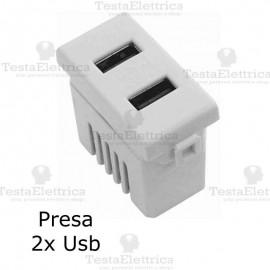 Presa USB  compatibile con serie Bticino Matix