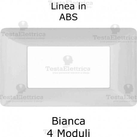 Placca in PVC bianca compatibile con serie Bticino Matix
