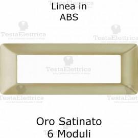 Placca in PVC Oro Satinato compatibile con serie Bticino Matix