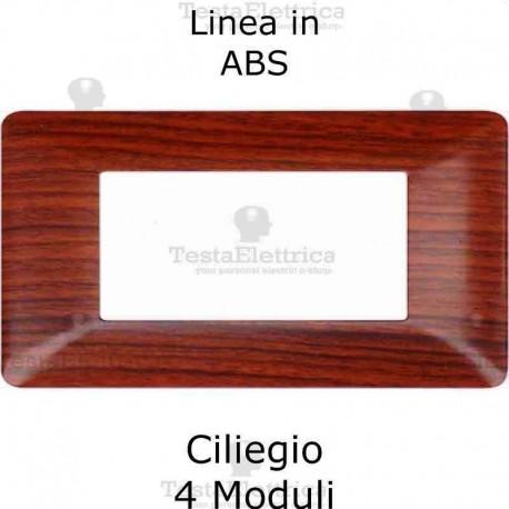 Placca in PVC Ciliegio compatibile con serie Bticino Matix