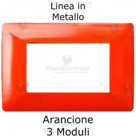 Placca in Metallo Arancione compatibile con serie Bticino Matix