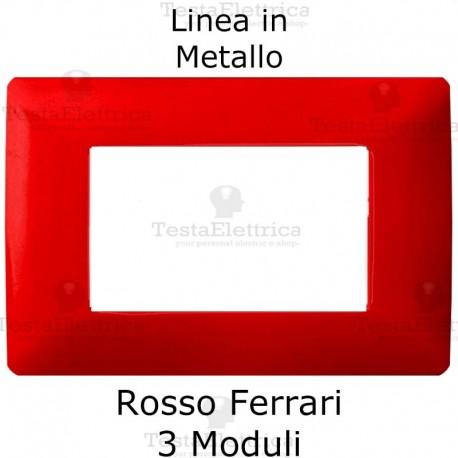 Placca in Metallo Rosso Ferrari compatibile con serie Bticino Matix