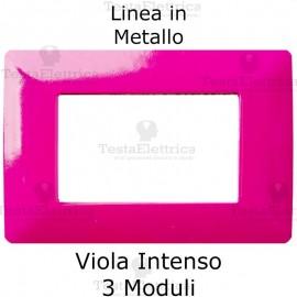 Placca in Metallo Viola compatibile con serie Bticino Matix
