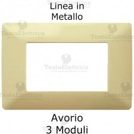 Placca in Metallo Avorio compatibile con serie Bticino Matix
