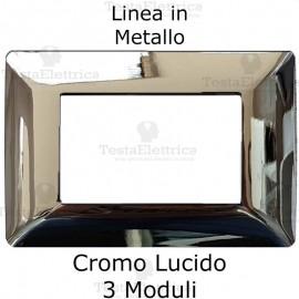 Placca in Metallo Cromo Lucido compatibile con serie Bticino Matix