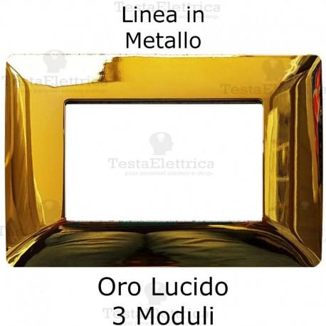 Placca in Metallo Oro Lucido compatibile con serie Bticino Matix