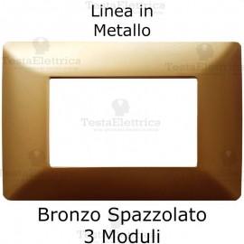 Placca in Metallo Bronzo Spazzolato compatibile con serie Bticino Matix
