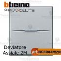 Deviatore 1P 10 AX  250 Va.c. 2 moduli Bticino Axolute