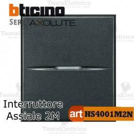 Interruttore 1P 2 moduli  Bticino Axolute Antracite