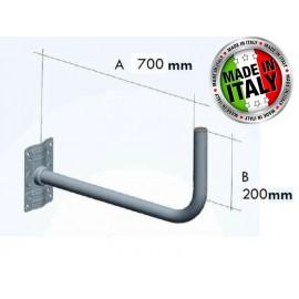 staffa  per parabola a l 70 cm zincata