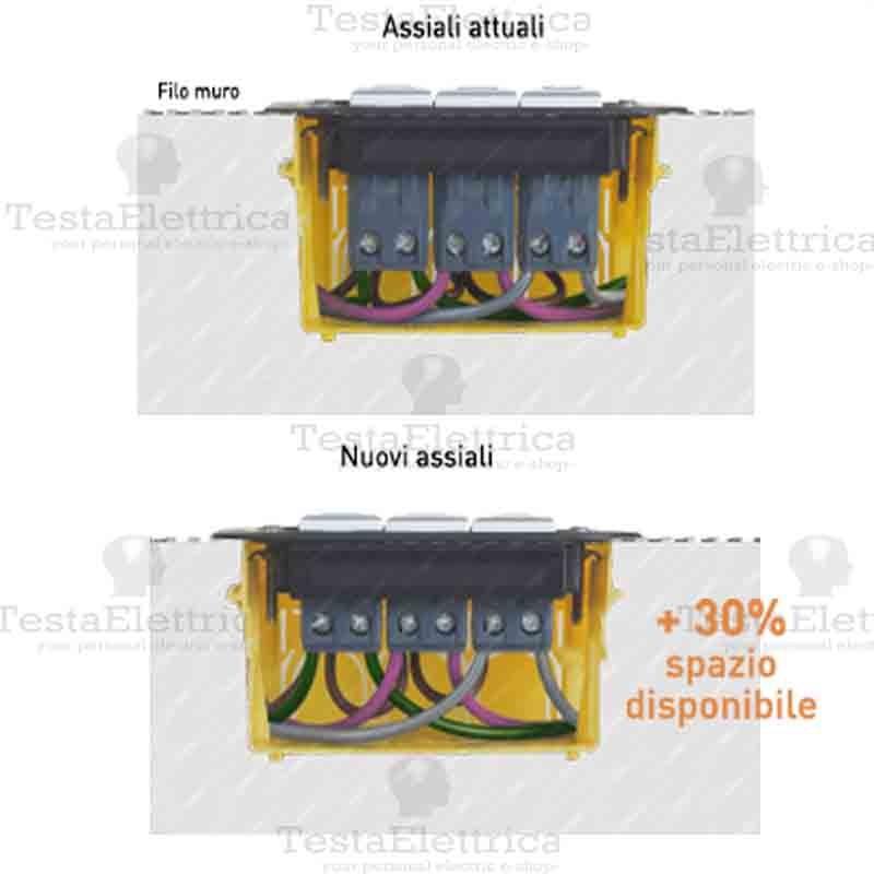 PULSANTE ASSIALE BIANCO BTICINO AXOLUTE HD4005A