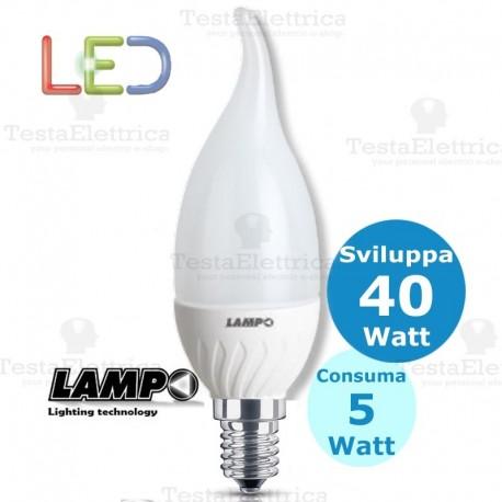 Lampadina a led colpo di vento 5 Watt E14 lampo