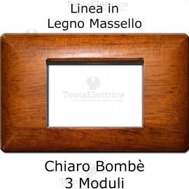 Placca in Metallo Placca in Legno Massello Chiaro compatibile con serie Bticino Matixcompatibile con serie Bticino Matix