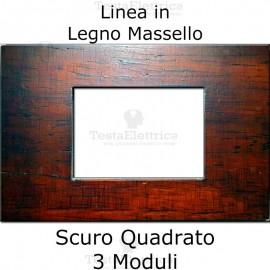 Placca in Legno Massello Scuro compatibile con serie Bticino Matix