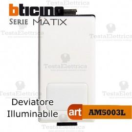 Deviatore 1P 16 AX 250 Va.c. Illuminabile Bticino Matix