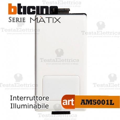 Interruttore 1P 16 AX  250 Va.c. Illuminabile Bticino Matix