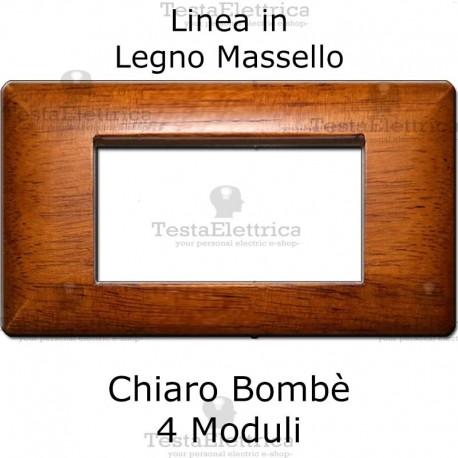 Placca in Legno Massello Chiaro compatibile con serie Bticino Matix