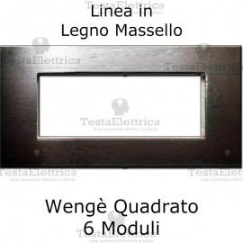 Placca in Legno Massello Wengè compatibile con serie Bticino Matix
