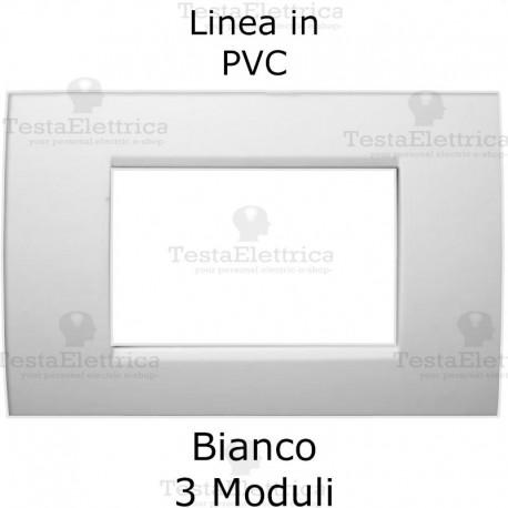 Placca PVC bianca compatibile con serie Bticino Matix