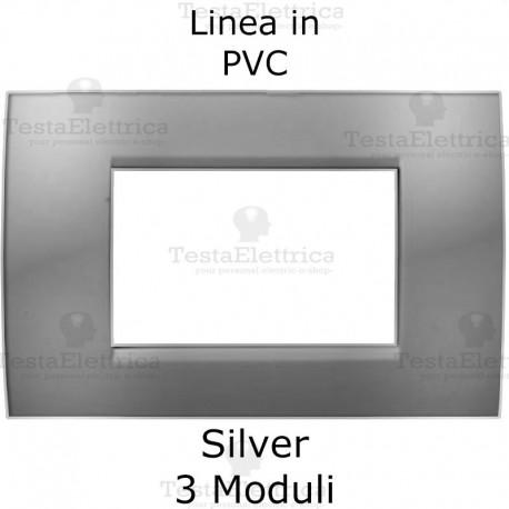 Placca PVC Silver compatibile con serie Bticino Matix