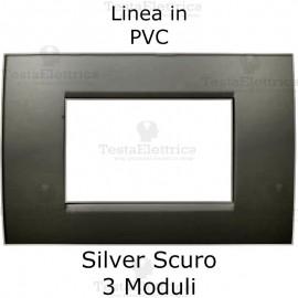 Placca PVC Silver Spazzolato compatibile con serie Bticino Matix
