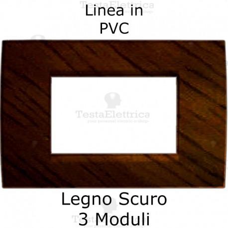 Placca in PVC tipo legno compatibile con serie Bticino Matix