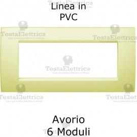 Placca in PVC Avorio compatibile con serie Bticino Matix