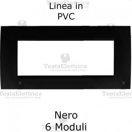 Placca in PVC Nero Lucido compatibile con serie Bticino Matix