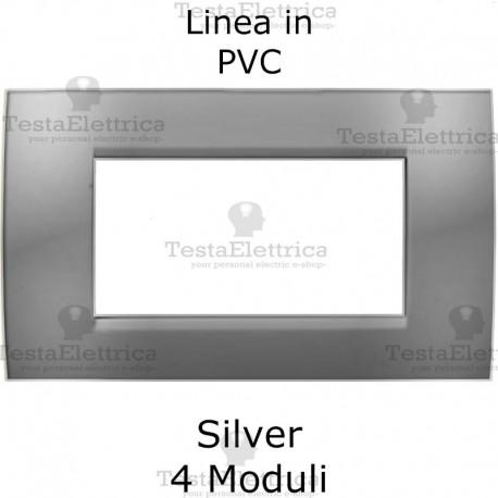 Placca in PVC Silver compatibile con serie Bticino Matix