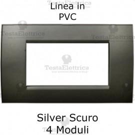 Placca in PVC Silver Scuro compatibile con serie Bticino Matix