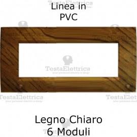 Placca in PVC Legno Chiaro compatibile con serie Bticino Matix